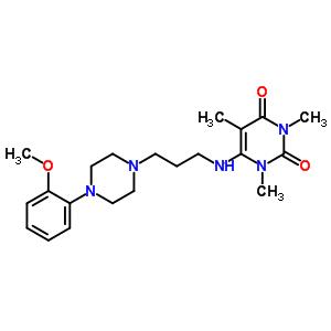 34661-85-3 6-({3-[4-(2-methoxyphenyl)piperazin-1-yl]propyl}amino)-1,3,5-trimethylpyrimidine-2,4(1H,3H)-dione