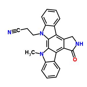 136194-77-9 3-(13-methyl-5-oxo-5,6,7,13-tetrahydro-12H-indolo[2,3-a]pyrrolo[3,4-c]carbazol-12-yl)propanenitrile