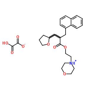 3209-76-5 2-morpholin-4-ylethyl 3-naphthalen-1-yl-2-(tetrahydrofuran-2-ylmethyl)propanoate ethanedioate