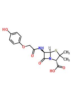 20880-67-5 (2S,5R,6R)-6-{[(4-hydroxyphenoxy)acetyl]amino}-3,3-dimethyl-7-oxo-4-thia-1-azabicyclo[3.2.0]heptane-2-carboxylic acid