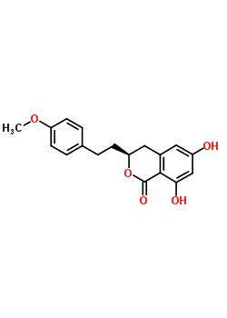 21499-24-1 (3S)-6,8-dihydroxy-3-[2-(4-methoxyphenyl)ethyl]-3,4-dihydro-1H-isochromen-1-one
