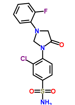 65614-99-5 3-chloro-4-[3-(2-fluorophenyl)-5-oxoimidazolidin-1-yl]benzenesulfonamide