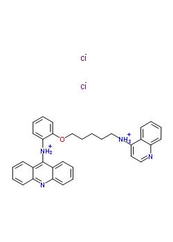 66725-00-6 N-(2-{[5-(quinolin-4-ylammonio)pentyl]oxy}phenyl)acridin-9-aminium dichloride