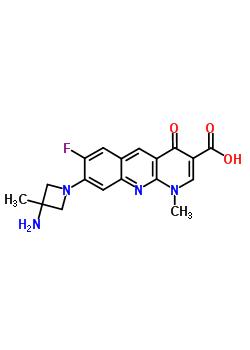 149105-53-3 8-(3-amino-3-methylazetidin-1-yl)-7-fluoro-1-methyl-4-oxo-1,4-dihydrobenzo[b][1,8]naphthyridine-3-carboxylic acid