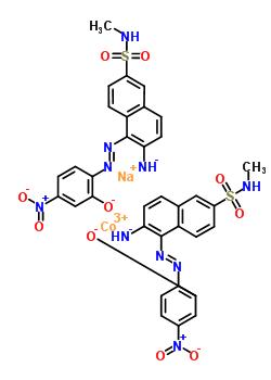 160158-50-9;70236-59-8 cobalt(3+) sodium 2-{(E)-[2-azanidyl-6-(methylsulfamoyl)naphthalen-1-yl]diazenyl}-5-nitrophenolate (1:1:2)