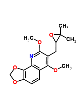 17232-51-8 7-[(3,3-dimethyloxiran-2-yl)methyl]-6,8-dimethoxy[1,3]dioxolo[4,5-h]quinoline