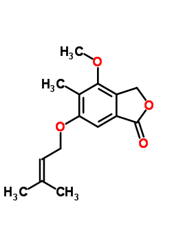 17811-32-4 4-methoxy-5-methyl-6-[(3-methylbut-2-en-1-yl)oxy]-2-benzofuran-1(3H)-one