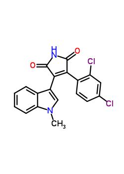 280744-09-4 3-(2,4-Dichlorophenyl)-4-(1-methyl-1H-indol-3-yl)-1H-pyrrole-2,5-dione