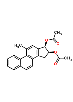 42123-07-9;42123-08-0 (16beta,17beta)-11-methylgona-1(10),2,4,6,8,11,13-heptaene-16,17-diyl diacetate