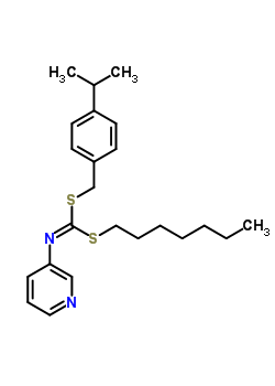 51308-74-8 heptyl 4-(propan-2-yl)benzyl pyridin-3-ylcarbonodithioimidate