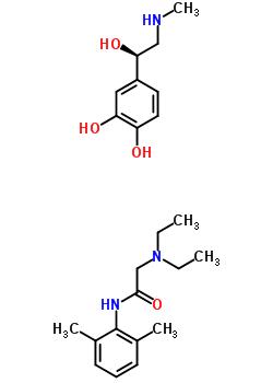 54958-67-7 N-(2,6-dimethylphenyl)-N~2~,N~2~-diethylglycinamide - 4-[(1R)-1-hydroxy-2-(methylamino)ethyl]benzene-1,2-diol (1:1)