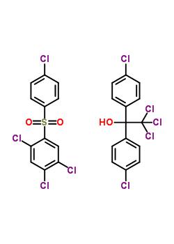 63734-10-1;95032-56-7 2,2,2-trichloro-1,1-bis(4-chlorophenyl)ethanol - 1,2,4-trichloro-5-[(4-chlorophenyl)sulfonyl]benzene (1:1)