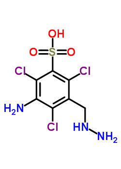 70288-90-3 3-amino-2,4,6-trichloro-5-(hydrazinylmethyl)benzenesulfonic acid