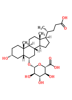 76060-17-8 (3alpha,5beta,6alpha)-3,24-dihydroxy-24-oxocholan-6-yl beta-D-glucopyranosiduronic acid