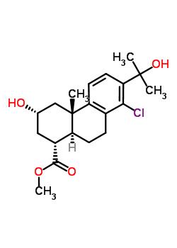 83353-98-4 methyl (1R,3S,4aS,10aS)-8-chloro-3-hydroxy-7-(2-hydroxypropan-2-yl)-4a-methyl-1,2,3,4,4a,9,10,10a-octahydrophenanthrene-1-carboxylate