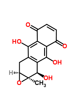 98670-74-7 (1aR,2R,9aS)-2,3,8-trihydroxy-1a-methyl-1a,2,9,9a-tetrahydroanthra[2,3-b]oxirene-4,7-dione