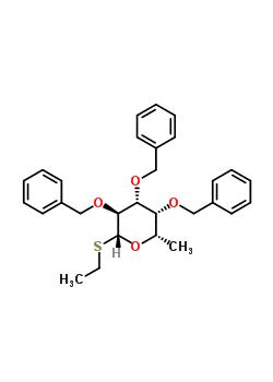 b-L-Galactopyranoside, ethyl6-deoxy-2,3,4-tris-O-(phenylmethyl)-1-thio- 99409-34-4