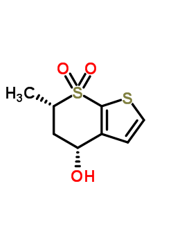 (4R,6S)-5,6-Dihydro-4-hydroxy-6-methylthieno[2,3-b]thiopyran-7,7-dioxide 147128-77-6