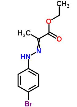 (E)-乙基-2-(2-(4-溴苯基)腙基)丙酸酯 16382-11-9