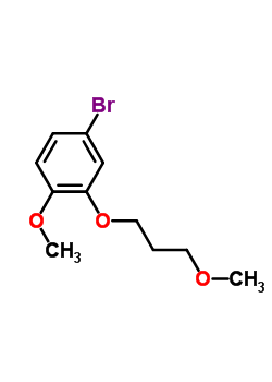 173336-76-0 4-Bromo-1-methoxy-2-(3-methoxy-propoxy)-benzene
