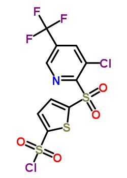 175203-00-6 5-[3-Chloro-5-(trifluoromethyl)pyrid-2-ylsulphonyl]thiophene-2-sulphonyl chloride