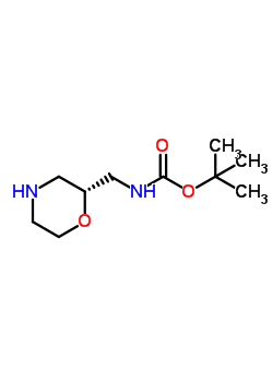 186202-57-3 (R)-2-N-Boc-aminomethylmorpholine