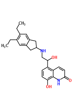 312753-06-3 5-[2-(5,6-Diethyl-2,3-dihydro-1H-inden-2-ylamino)-(1R)-hydroxyethyl]-8-hydroxyquinolin-2(1H)-one