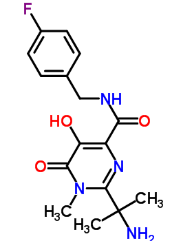 518048-03-8 2-(1-Amino-1-methylethyl)-N-(4-fluorobenzyl)-5-hydroxy-1-methyl-6-oxo-1,6-dihydropyrimidine-4-carboxamide