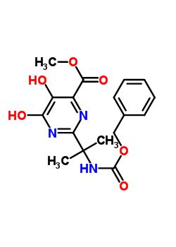 Methyl 2-(2-(benzyloxycarbonylamino)propan-2-yl)-5-hydroxy-6-oxo-1,6-dihydropyrimidine-4-carboxylate 519032-08-7