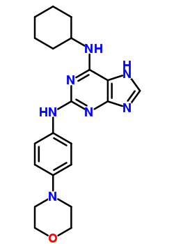 656820-32-5 N~6~-cyclohexyl-N~2~-[4-(morpholin-4-yl)phenyl]-7H-purine-2,6-diamine
