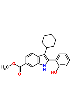 863578-50-1 methyl 3-cyclohexyl-2-(2-hydroxyphenyl)-1H-indole-6-carboxylate
