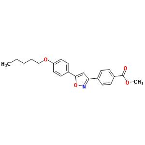 4-(5-(4-(戊基氧基)苯基)异�f唑-3-基)苯甲酸甲酯