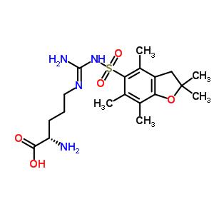 200115-86-2 (E)-N~5~-(amino{[(2,2,4,6,7-pentamethyl-2,3-dihydro-1-benzofuran-5-yl)sulfonyl]amino}methylidene)-L-ornithine