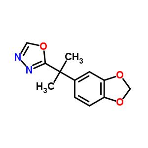 251958-52-8 2-[2-(1,3-benzodioxol-5-yl)propan-2-yl]-1,3,4-oxadiazole
