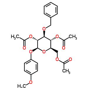 4-甲氧苯基-2,4,6-三-O-乙酰基-3-O-苄基-β-D-吡喃葡萄糖苷 303127-79-9