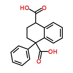 596-56-5 1-phenyl-1,2,3,4-tetrahydronaphthalene-1,4-dicarboxylic acid