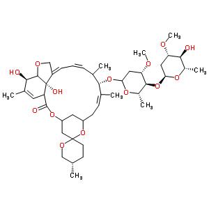 73989-17-0 (2aZ,4Z,5'S,7S,8Z,20R,20bS)-20,20b-dihydroxy-5',6,8,19-tetramethyl-17-oxo-3',4',5',6,6',10,11,14,15,17,17a,20,20a,20b-tetradecahydro-2H,7H-spiro[11,15-methanofuro[4,3,2-pq][2,6]benzodioxacyclooctadecine-13,2'-pyran]-7-yl 2,6-dideoxy-4-O-(2,6-dideoxy-3-O-m
