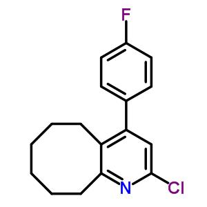 132813-14-0 2-chloro-4-(4-fluorophenyl)-5,6,7,8,9,10-hexahydrocycloocta[b]pyridine