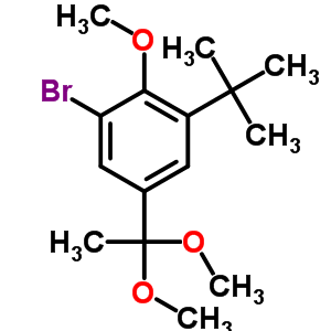 153356-10-6 1-bromo-3-tert-butyl-5-(1,1-dimethoxyethyl)-2-methoxybenzene
