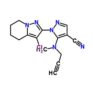 158353-15-2 1-(3-chloro-4,5,6,7-tetrahydropyrazolo[1,5-a]pyridin-2-yl)-5-[methyl(prop-2-yn-1-yl)amino]-1H-pyrazole-4-carbonitrile