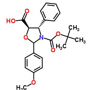 (4S,5R)-2-(4-甲氧基苯基)-4-苯基-3,5-恶唑烷二羧酸 3-叔丁酯 196404-55-4