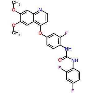 228559-41-9 1-(2,4-difluorophenyl)-3-{4-[(6,7-dimethoxyquinolin-4-yl)oxy]-2-fluorophenyl}urea