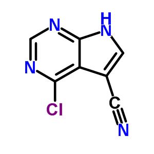 4-氯-7H-吡咯[2,3-D]嘧啶-5-甲腈 24391-41-1