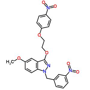 249933-23-1 5-methoxy-1-(3-nitrobenzyl)-3-[2-(4-nitrophenoxy)ethoxy]-1H-indazole