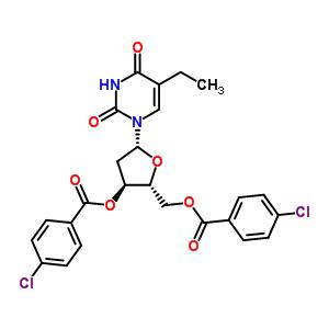 3',5'-二-氧-(4-氯苯甲酰基)-2'-脱氧-5-乙基尿苷 25137-84-2