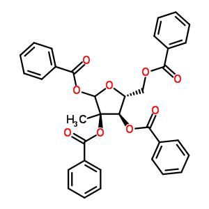 30361-19-4 2-C-methyl-1,2,3,5-tetrakis-O-(phenylcarbonyl)-D-ribofuranose