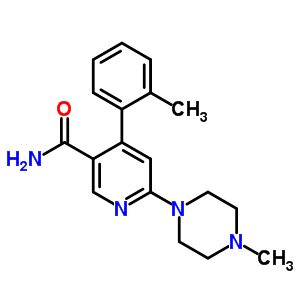6-(4-methylpiperazin-1-yl)-4-o-tolylnicotinamide 342417-01-0