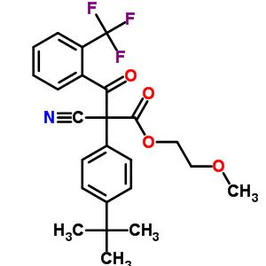 400882-07-7 2-methoxyethyl 2-(4-tert-butylphenyl)-2-cyano-3-oxo-3-[2-(trifluoromethyl)phenyl]propanoate