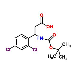 500788-90-9;683219-22-9 3-[(tert-butoxycarbonyl)amino]-3-(2,4-dichlorophenyl)propanoic acid