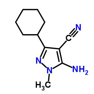 553672-05-2 5-amino-3-cyclohexyl-1-methyl-1H-pyrazole-4-carbonitrile